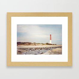 Barnegat Lighthouse Long Beach Island New Jersey Shore, Old Barney Light house LBI Framed Art Print