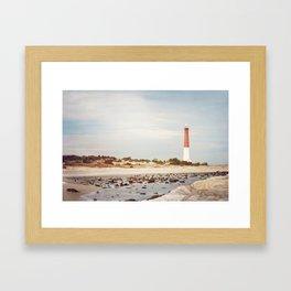 Barnegat Lighthouse Long Beach Island New Jersey Shore, Old Barney Light house LBI Framed Art Print
