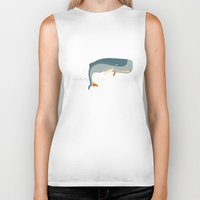 moby Biker Tanks featuring Moby Dick by Monsieur_P
