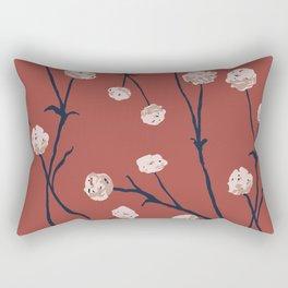 Dandelions on Earth Red Rectangular Pillow