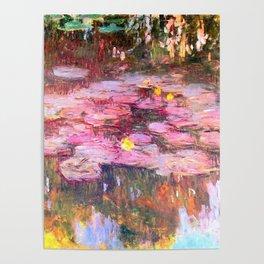 Water Lilies monet 1917 enhanced Poster