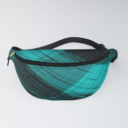 Iridescent arcs of ultramarine curtains of hanging flowing lines on velvet fabric. Fanny Pack