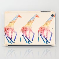 giraffe iPad Cases featuring Watercolor Giraffe by Jacqueline Maldonado