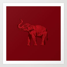 The Red Elephant Art Print