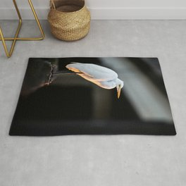 Great Egret at Sunset Rug