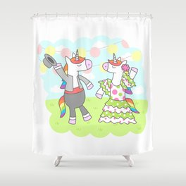 Unicorn Flamenco Shower Curtain
