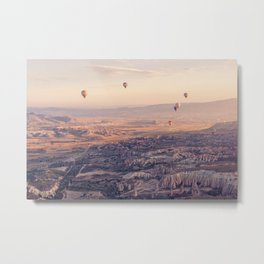 Sunrise Hot Air Balloon Flight Metal Print