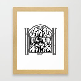 John 10:9 - Jesus saves Framed Art Print