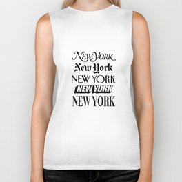 I Heart New York City Black and White New York Poster I Love NYC Design black-white home wall decor Biker Tank