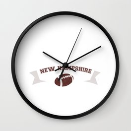 Just a Baller from New Hampshire Football Player Wall Clock