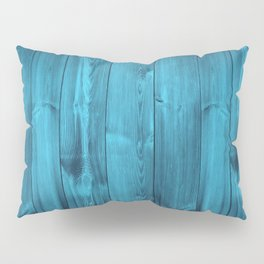 Blue Wood Planks Pillow Sham
