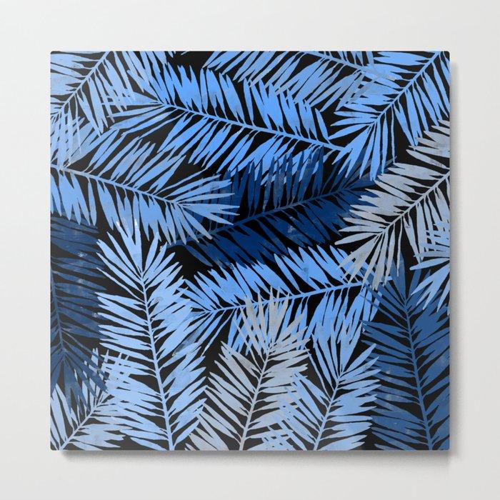 Tropical Palm Leaves III Metal Print
