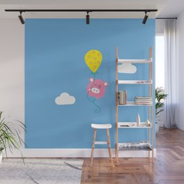 Pig ballon Wall Mural