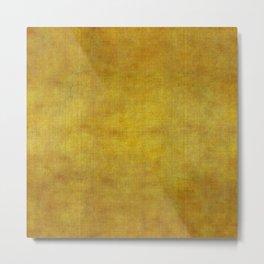 """Gold & Ocher Burlap Texture"" Metal Print"