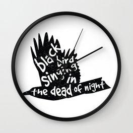 Blackbird  Wall Clock