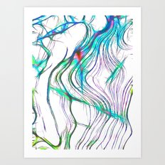 Fractal Ice Art Print