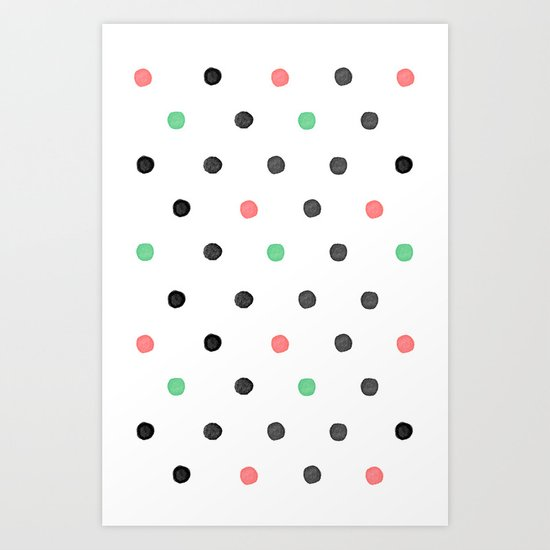 Watercolor Polka! Art Print
