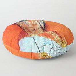 """Odilon Redon """"Veiled woman"""" Floor Pillow"""