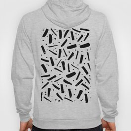 "simple abstract geometric ""confetti"" pattern Hoody"
