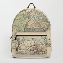 Vintage Map Print - French Map of the American War of Independence (1777) Backpack