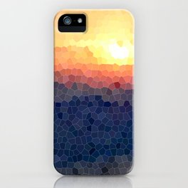 Stained-glass Effect Sunset iPhone Case