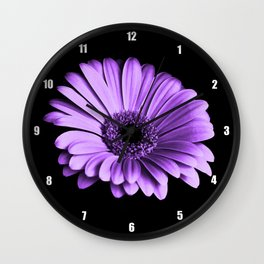 Purple Chrysanthemum Wall Clock