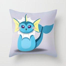 Evolution Bobbles - Vaporeon Throw Pillow