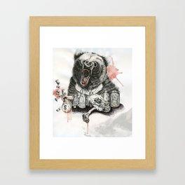 A Bear Named Bobo. Framed Art Print