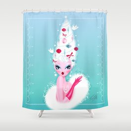 Christmas Coiffure Shower Curtain