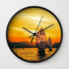 Sun regatta Wall Clock
