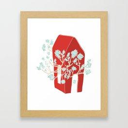 Break Free In Red Framed Art Print