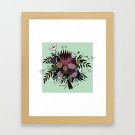 Beetles and Flowers Framed Art Print