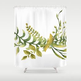 Greenery Bouquet for Spring Shower Curtain