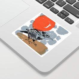 Northern Flicker Abstract Woodpecker Bird and Sun Sticker