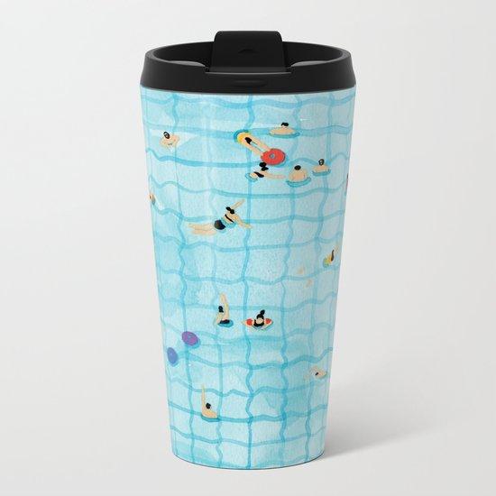 Swimming pool Metal Travel Mug