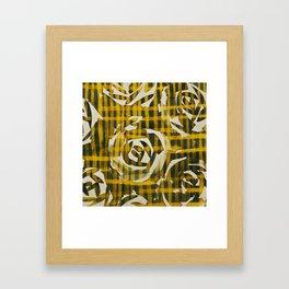 Check roses Framed Art Print