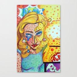 Tragic Pop Art Canvas Print