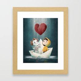 Finally Best Friends Framed Art Print