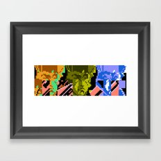 Three Double Crossers Framed Art Print