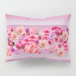 pretty and happy pink flowers Pillow Sham