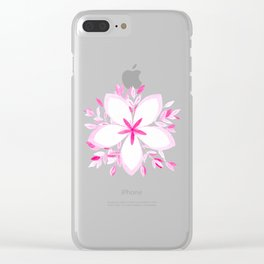 Pink flower arrangement Clear iPhone Case