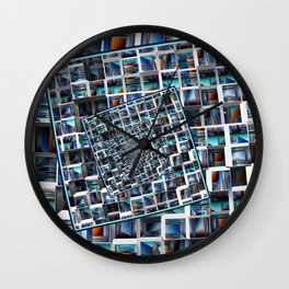 Abstract Infinity Wall Clock