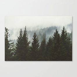 Forest Fog Mountain IV - Wanderlust Nature Photography Canvas Print