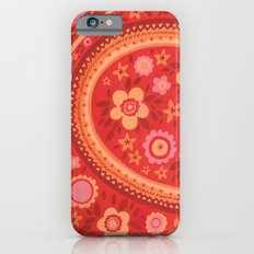Bright Red Flowers iPhone 6s Slim Case