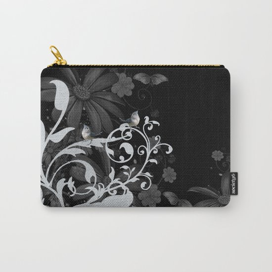 Wonderful floral design with birds Carry-All Pouch