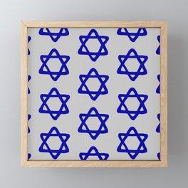 Hanukkah Star Of David Contemporary Pattern Framed Mini Art Print
