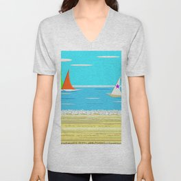 Sailing - Beach Life Unisex V-Neck