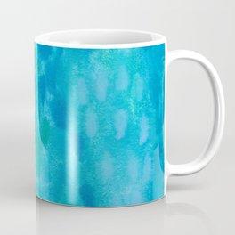 Ocean Blue Abstract Watercolor Coffee Mug
