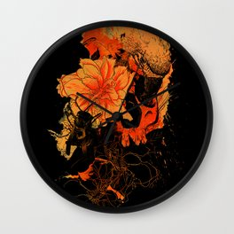 Pollination Dark Fire Wall Clock