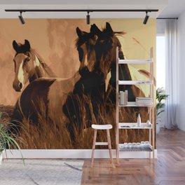 Horse Spirits Wall Mural
